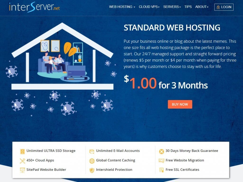 interserver hosting plan