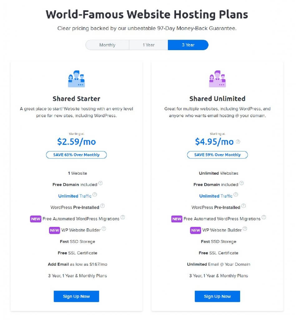 Dreamhost hosting plan - best cheap web hosting